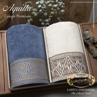 Paket Handuk Couple AQUILLA Premium Towels Polos tanpa Bordir + Box