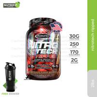 Muscletech Nitrotech Ripped 2lbs 2 lbs 2lb 2 lb Whey Protein