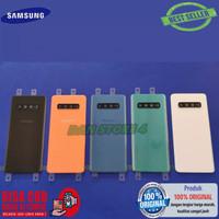 COD Back Door Cover Backdoor Samsung S10 Plus S10+ lensa kaca kamera - Orange
