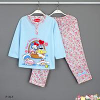 Baju Tidur Setelan Panjang Panjang Sanrio P-818 / PTP size 14-16-18
