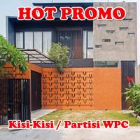 Kisi Kisi WPC Minimalis / Partisi WPC Kayu Asri / Pembatas Ruangan