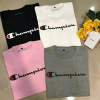 T-shirt CHAMPION anak dan dewasa UNISEX IMPORT/large size up to 4XL