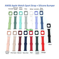 AW06 Apple Watch 38mm / 40mm Silicone Sport Strap Band + Bumper Case