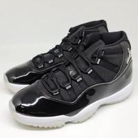 Sepatu Basket Nike Air Jordan 11 Jubilee Black White