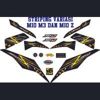 VARIASI ALL STRIPING MOTOR MIO M3 125i THAILOOK STICKER MIO Z STRIPING