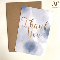 Kartu Ucapan Terima Kasih A6 10x15 Simple Watercolor Thank You Card