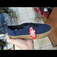sepatu pria wanita sneakers vans biru sol gum ukuran 36 - 43 - Biru, 36
