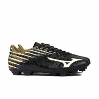 Terheboh sepatu bola mizuno basara 104 MD black white gold original n