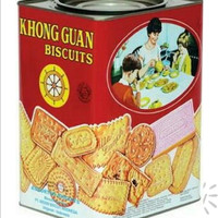 KHONG GUAN ASSORTED BISKUIT KALENG MERAH 1600GR