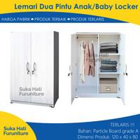 Lemari Pakaian Minimalis Anak/Lemari Baju Mini/Baby Locker Putih Murah