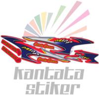 Stiker striping motor mio sporty mx merah biru
