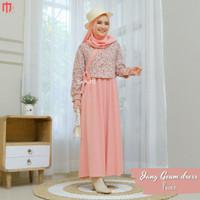 Gamis Syar'i Wanita Terbaru/Set Jung Geum Dress Motif Bunga by Mayumi