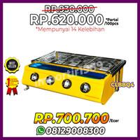 Kompor Panggang Sosis BBQ 4 Tungku Roaster Gas Griller CLBBQ4