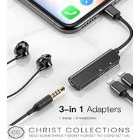 BASEUS AUDIO ADAPTOR CONVERTER IPHONE TO DUAL LIGHTNING+JACK 3,5MM L52