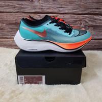 Sepatu Sneakers Nike Air Zoom Vaporfly Next% Ekiden Blue Orange Black