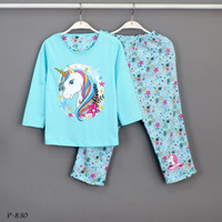 Baju Tidur Setelan Panjang Panjang Unicorn P-830 / PTP size 14-16-18