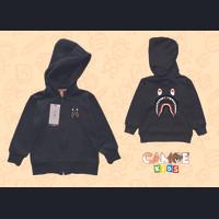 Jaket hoodie zipper anak Kids premium bape shark hiu paus