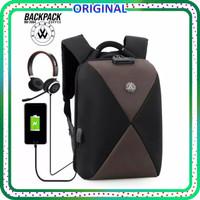 TAS RANSEL PRIA BIAOWANG ORIGINAL 2904 Tas Ransel Laptop 18inc - black-coffee