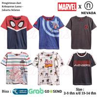 Baju Kaos Atasan Anak Laki Laki Marvel Nevada 1 Branded Original