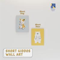 Short Kiddos Wall Art / Wall Decor / Walldecor / Hiasan Dinding Anak