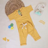 Kaos Baju Setelan Anak Laki-Laki Pineapple Long Baby - 1 Tahun
