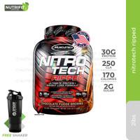 Muscletech Nitrotech Ripped 4lbs 4 lbs 4lb 4 lb Whey Protein