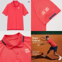 Uniqlo Roger Federer 2021 Paris Tenis Tennis MEN DRY-EX POLO SHIRT RED