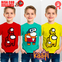 Baju Kaos Anak @m0ngUs Merah Kuning - Kuning, S