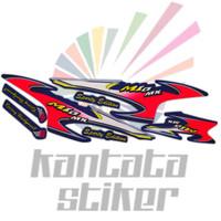 Stiker striping motor mio sporty mx biru merah