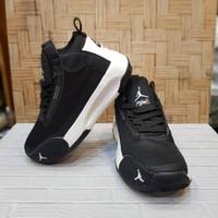 Sepatu Anak Nike Air Jordan import Black white original, Size 31-36
