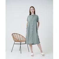 THIS IS APRIL - Dear Shirt Dress – Apple Green