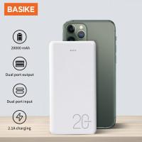 BASIKE Power Bank 20000mAh Dual USB Fast Murah Mini for Iphone Android