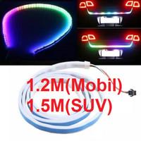Lampu Strip DRL RGB 12V TAIL Led Lampu Bagasi Pintu Belakang Mobil
