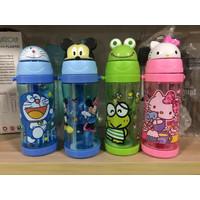 Botol Air Minum Kepala Karakter Disney Kartun Anak BPA FREE