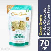 Casagrata - Herbs Crackers 70gr - Vegan Snack - Cemilan Diet