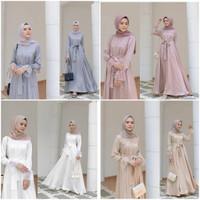 venetia maxi dress brukat/baju pesta hijab/baju panjang muslim wanita