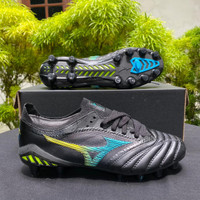 Sepatu Bola Mizuno Morelia Neo 3 Beta Leather Black Cyber Pack