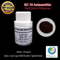 Astaxantin 25gr Red Color RC 10 warna merah ikan koi koki arowana