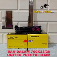 BAN DALAM SEPEDA 700 X 23 25 28 PRESTA FV 60 MM 700X28 700X25 700X23