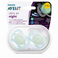 empeng philips avent ultra air night pacifier 0 - 6m original
