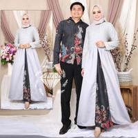 Baju Gamis Lebaran Couple Pasangan Suami Istri Terbaru 2021 Moscrepe
