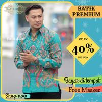 Baju Kemeja Batik Pria Lengan Panjang Slim Fit Batik Tulis Jumbo 084 - S