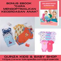 Pakaian Bayi, Baby Romper Segitiga Redkite Lengan PENDEK Set 5pcs/box - 0-3 Bulan