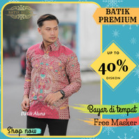 Baju Kemeja Baju Batik Pria Lengan Panjang Slimfit Batik Tenun 077