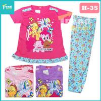 Setelan Anak Perempuan UNICORN / 7-10 tahun / Baju Tidur Anak Perempua