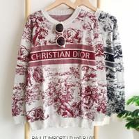Blouse Dior Rajut Import baju atasan jumbo rajut jumbo blouse jumbo