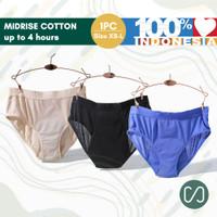 Celana Menstruasi Anti Bocor Moonrise Midrise Cotton XS - L