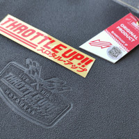 Kulit Jok Motor Racing Throttle Up Not MB Tech PCX NMax Aerox Lexi
