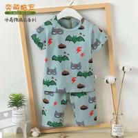 Baju setelan import anak/baju santai anak laki-laki celana 7/8 7-9th - 85