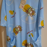 Dress Rumah baju tidur daster panjang selutut ada kantong